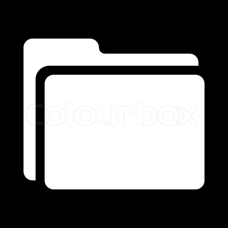 Icon Folder Black White Stock Vector Colourbox