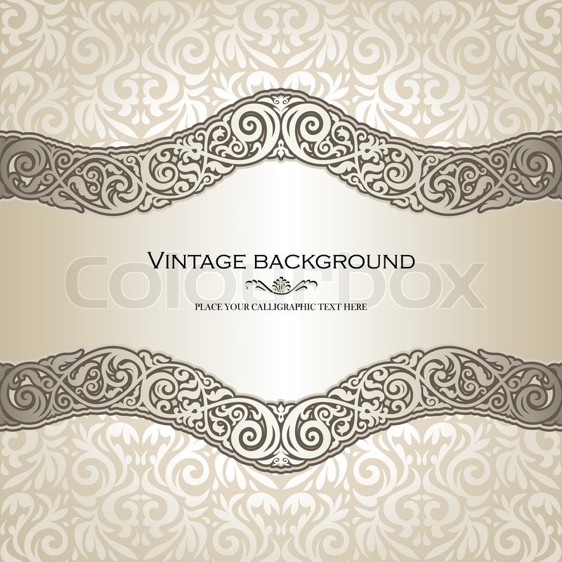 Vintage background elegance antique victorian floral ornament baroque frame beautiful
