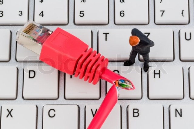 A red network cable on a computer. in the background a computer tastatue - Stock Photo - Colourbox - 웹