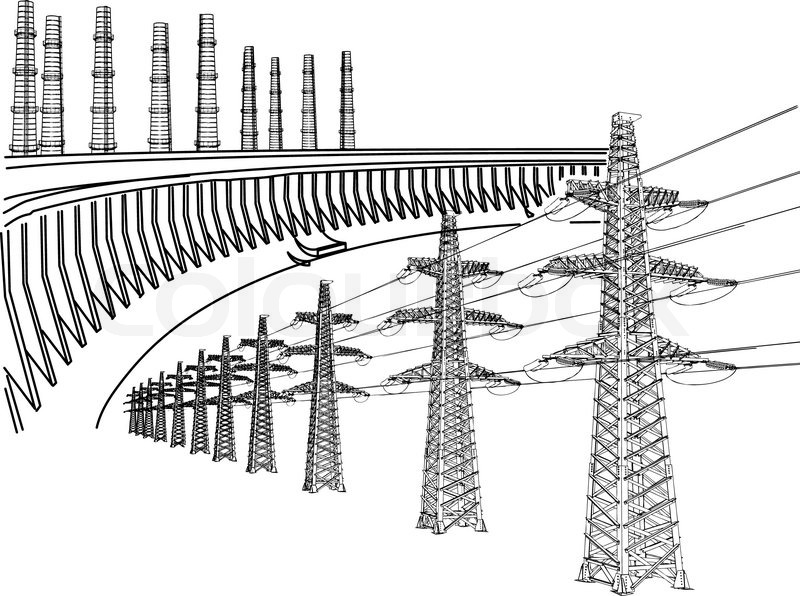 Power Transmission Line Dnieper hydro power plant Thermal