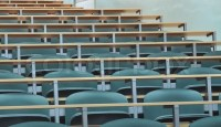 University classroom chairs in row | Stock Photo | Colourbox