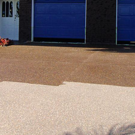 Sealing Existing Exposed Aggregate Driveway  Colour Crete