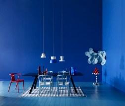 Blue - dark blue dining room