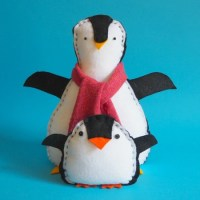 Pengi: a really easy penguin sewing pattern kids can make