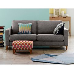 Contemporary Fabric Sofas 100 Inch Sofa Sourcebook Colourful Beautiful Things M S Tromso Compact Grey With Cushions And Footstool