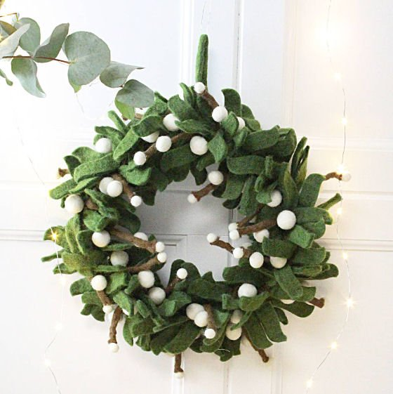 Contemporary Christmas Wreaths For Indoors And Out