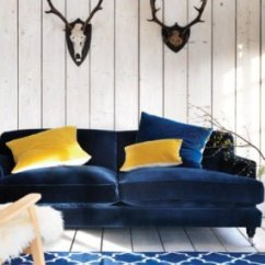 Navy Blue Velvet Sofa Drake 3 Piece Faux Suede Left Facing Sectional With Bed Top 10 Contemporary Sofas Colourful Beautiful Things