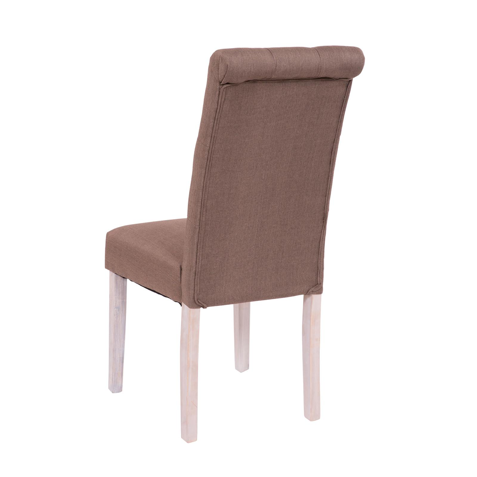 what type of fabric to cover kitchen chairs chair rental hilo dining with 2er set in brown