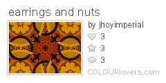 earrings and nuts
