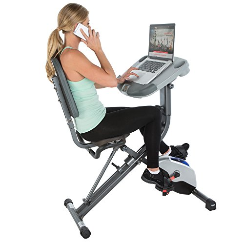 Exerpeutic WORKFIT 1000 Desk Station Folding Semi-Recumbent Exercise Bike
