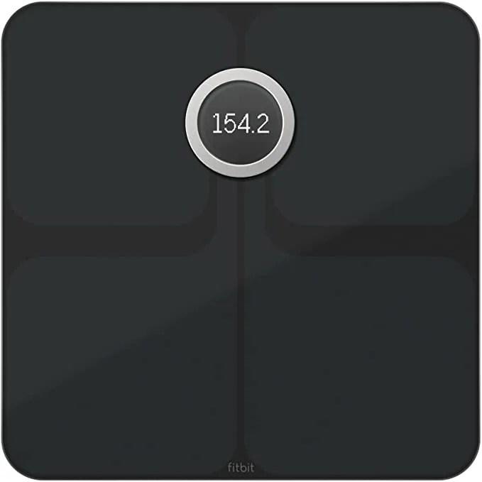 Fitbit Aria 2 Black Flat Lay