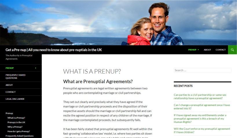 Get A Pre-Nup Niche Site