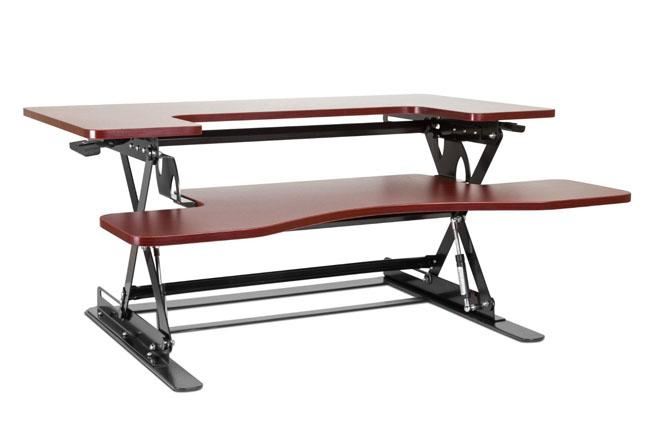 flexispot m2w height adjustable stand up desk riser u2013 two level wide - Desk Riser