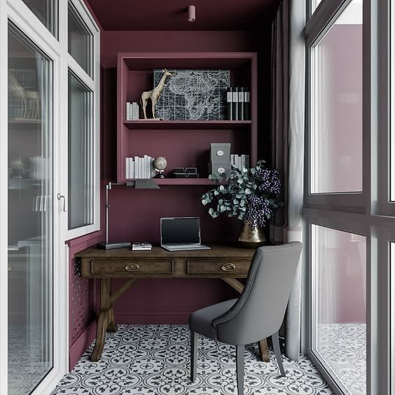 Medium Small Home Office Set Ups Turn The Balcony Or A Small Space Into A Work From Home Corner Colour My Living