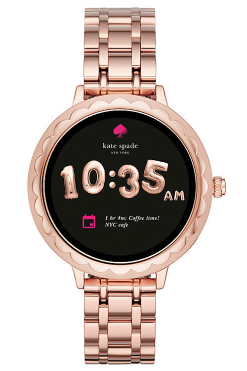 Kate Spade Rose Gold scallop touchscreen smartwatch