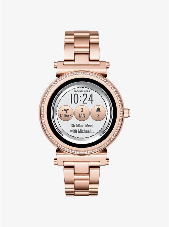 MICHAEL KORS ACCESS Sofie Pavé Rose Gold-Tone SmartwatchMKT5022