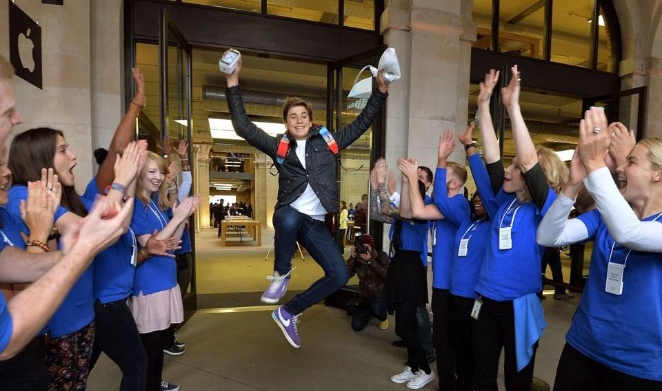 iPhone X Fan Celebrates
