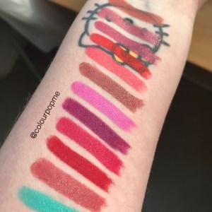 Colourpop Lippie Stix swatches