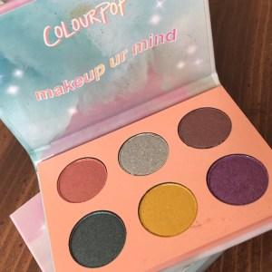 Colourpop Makeup Ur Mind palette swatches