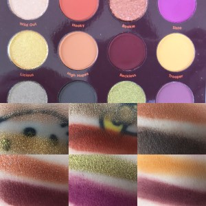 Colourpop FALL EDIT swatches