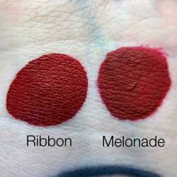 Swatch Comparison: Melonade vs Ribbon