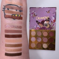 COLOURPOP Fluttery By palette swatches