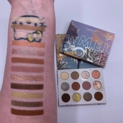 Colourpop OFF MELROSE palette swatches