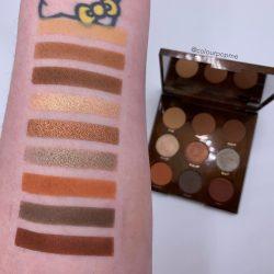 COLOURPOP BROWN SUGAR eye shadow palette swatches