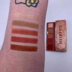 COLOURPOP CHERISH eye shadow palette swatches
