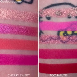 COLOURPOP eye shadow palette comparisons (CHERRY SWEET VS TOO HAUTE)