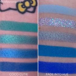 COLOURPOP eye shadow palette comparisons (COCO CUTIE, FADE INTO HUE)