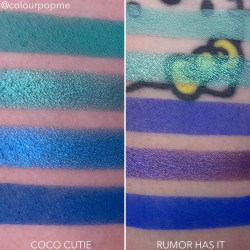 COLOURPOP eye shadow palette comparisons (COCO CUTIE, RUMOR HAS IT)