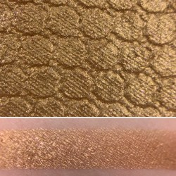 Colourpop COLORS OF THE WIND Super Shock Shadow Swatch and Photo from the Disney Heart of Gold vault