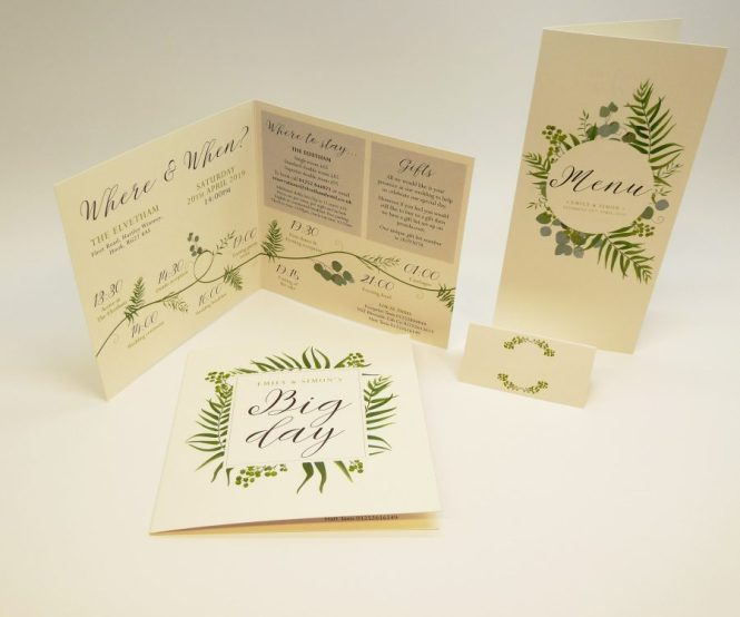 1 For Wedding Invitations In Farnham Stationery