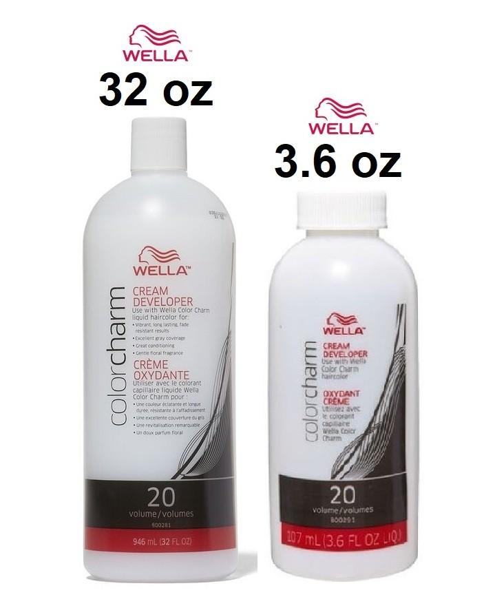 Wella Color Charm Cream Developer Volume 3.6 oz & Wella Color Charm Cream Developer Volume 32 oz