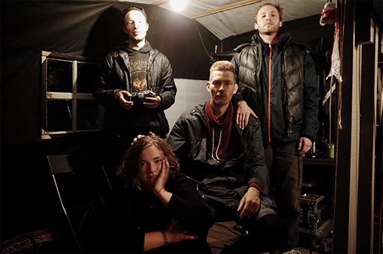 Техническая часть команды: (слева направо) Илья, Матвей Сабуров, Макс Квартальный, (нижний ряд) Аня Волк