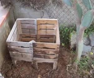 Compost domestico - Come fare una compostiera con le cassette in legno