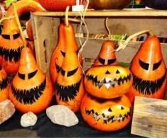 foto di halloween-zucche intagliate