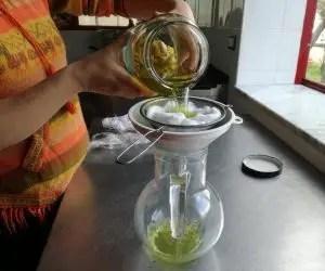Colino e cotone per filtrare artigianalmente il limoncello