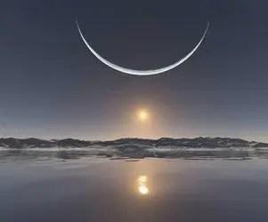 Il calendario lunare del mese di marzo durante equinozio di primavera