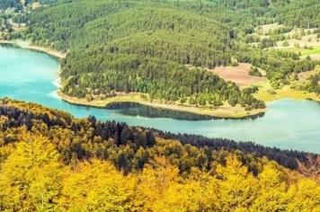 Lago Arvo visto da Colle Perilli Parco Nazionale della Sila