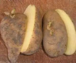 Patate con taglio longitudinale