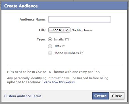 Facebook email remarketing