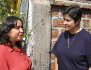 Carmen who coordinates Vocation Ministry in Chile is seen here with  our Chilean Columban novice, Anita Jara.