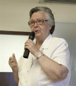The vetran missionary Sister Fintan