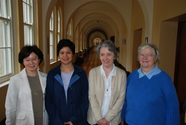 From left: Sr Angela Suh Illang (Korea), Sr Anne Carbon (Philippines), Sr Ann Gray (Scotland) & Sr Patricia Quigley (Ireland)