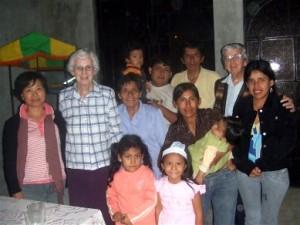 """Bridie with the Sisters and friends from 'el pueblo"""" San Martin de Porres"""
