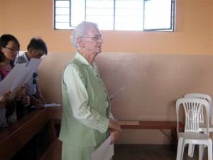 "Intercessory Prayers are offered for Bridie and all of the ""pueblo"" de San Martin"