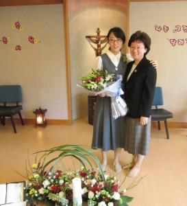Paulina with Sister Angela Suh, her Novice Directress.