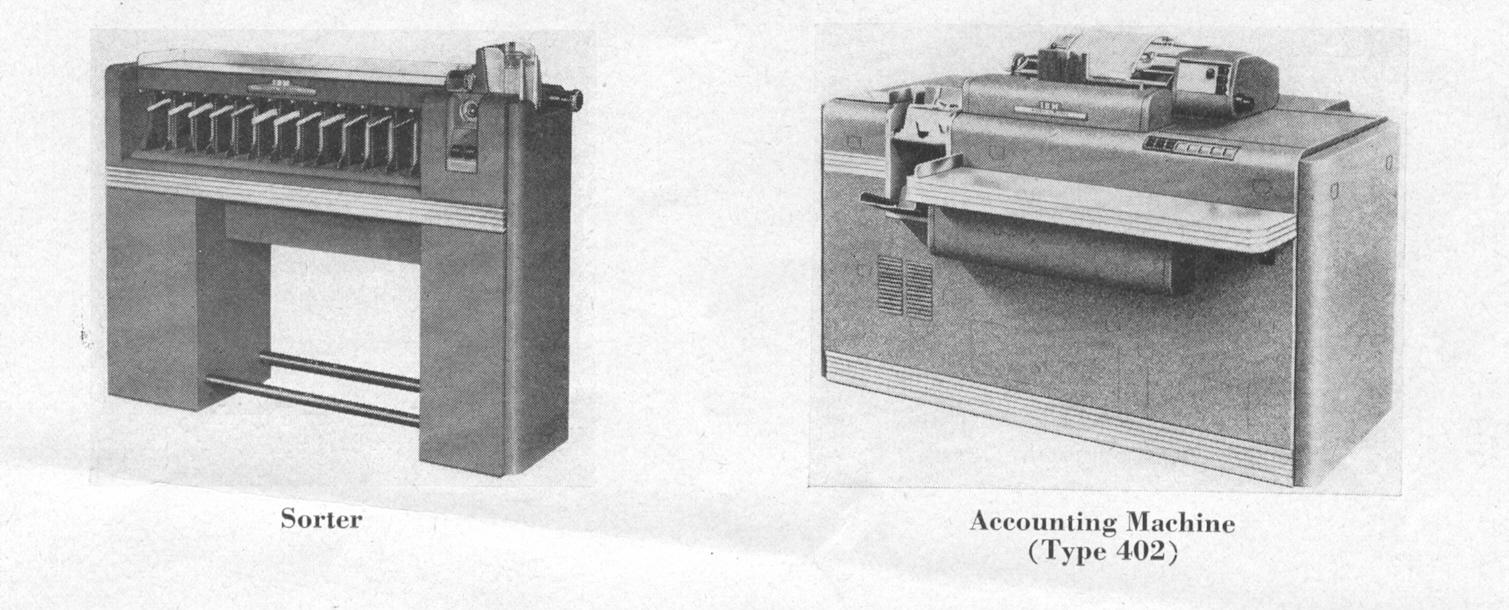 Sorter and Accounting Machine